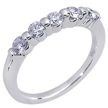 Five Stone Wedding Band: (/images/Items/10.jpg) wedding ring,ring,rings,engagement rings,diamond engagement rings
