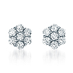 Newbury Button Diamond Earrings