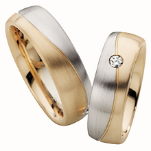 FurrerJacot TwoTone Organic Wedding Ring Diamond Ideals