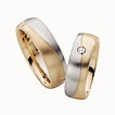 Furrer-Jacot Two-Tone Organic Wedding Ring