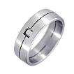Furrer-Jacot Single Groove & Square Wedding Band