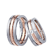 Furrer-Jacot Two-Tone Triple Wedding Band