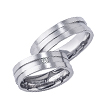 Furrer-Jacot Triple Off-Set Wedding Ring