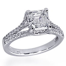 Split Shank Square Engament Ring: (/images/Items/1056.jpg) Split shank