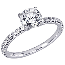 Stardust Active Shared Prong Engagement Ring: (/images/Items/1057.jpg) Stardust