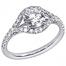 Stardust Active Split-Shank Halo Engagement Ring: (/images/Items/1060.jpg) split-shank halo