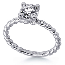 Twisted Rope Solitaire Engagement Ring: (/images/Items/1063.jpg) twisted rope
