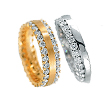 Furrer-Jacot Single & Double Eternity Rings