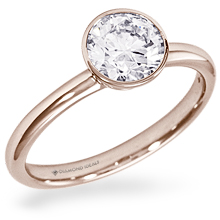 Custom Rose Gold Bezel Engagement Ring: (/images/Items/1082.jpg)