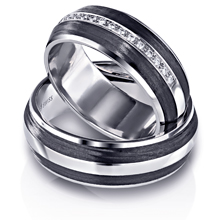 Furrer-Jacot Two-Line Carbon Fiber Wedding Band: (/images/Items/1088.jpg)