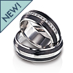 Furrer-Jacot Two-Line Carbon Fiber Wedding Band