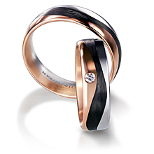 Furrer-Jacot 3 Color Carbon Fiber Wedding Band: (/images/Items/1089.jpg)