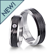 Furrer-Jacot Carbon Fiber Beveled Wedding Band