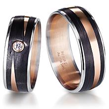 furrer jacot 3 color carbon fiber zen wedding band imagesitems - Carbon Fiber Wedding Ring