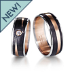 Furrer-Jacot 3 Color Carbon Fiber Zen Wedding Band