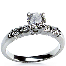 Five stone Engagement Ring: (/images/Items/11.jpg) Martin Flyer,Ring,Rings,Engagement,engagement rings,diamond engagement rings