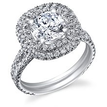 Double Halo Split Shank Engagement Ring: (/images/Items/1105.jpg)