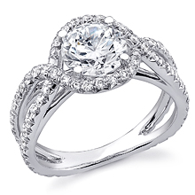 Twisted Halo Split Shank Engagement Ring: (/images/Items/1106.jpg)