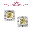 Red Carpet Coll. Canary Yellow Diamond Earrings