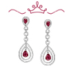 Red Carpet Coll. Ruby and Diamond Drop Earrings