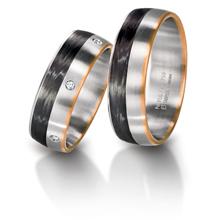 furrer jacot 3 color carbon fiber wedding band imagesitems - Carbon Fiber Wedding Rings