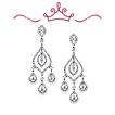 Red Carpet - Lindsay Chandelier Diamond Earrings
