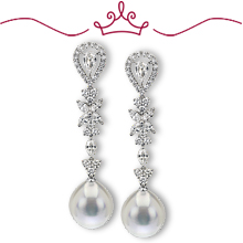 Red Carpet - Stanwyck Pearl Drop Earrings: (/images/Items/1129.jpg)