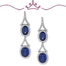 Red Carpet - Bacall Blue and White Earrings: (/images/Items/1130.jpg)