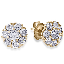 Fleurette Custom Cluster Diamond Earrings: (/images/Items/1139.jpg)