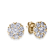 Fleurette Custom Cluster Diamond Earrings
