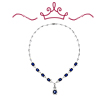 Red Carpet - Bacall Blue and White Necklace