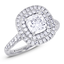 Elegant Double Halo Cushion Engagement Ring: (/images/Items/1147.jpg) halo