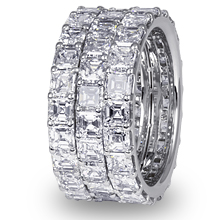 Triple Row Asscher-cut Eternity Ring: (/images/Items/1151.jpg)