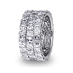 Triple Row Asscher-cut Eternity Ring
