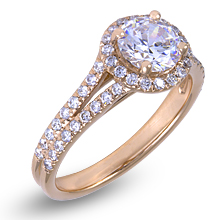 Split-Shank Halo Engagement Ring: (/images/Items/1152.jpg) Halo