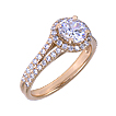 Split-Shank Halo Engagement Ring