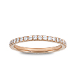 French Pavé Eternity Wedding Ring