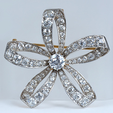 Art Deco Floral Bow Brooch: (/images/Items/1170.jpg) Art deco brooch
