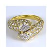Vintage Cartier Art Nouveau Diamond and Gold Ring