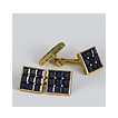 Vintage French 18K Yellow Gold and Sapphire Cufflinks