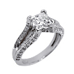 Cannes Princess Split Shank Engagement Ring
