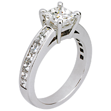 Asscher Cut Channel-set Engagement Ring: (/images/Items/134.jpg) Asscher cut,channel set ring,engagement ring,engagement rings,diamond engagement rings