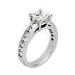 Asscher Cut Channel-set Engagement Ring
