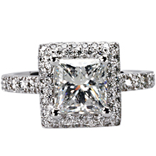 cannes square cut halo engagement ring imagesitems135 - Square Cut Wedding Rings