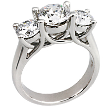 Shared Prong 3 Stone Trellis: (/images/Items/170.jpg) anniversary ring,trellis,three stone ring,engagement rings,diamond engagement rings