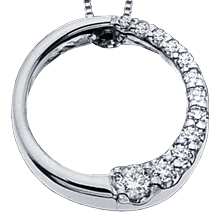 Journey Circle Pendant: (/images/Items/237.jpg) Journey,Necklace,Pendant,Circle,engagement rings,diamond engagement rings