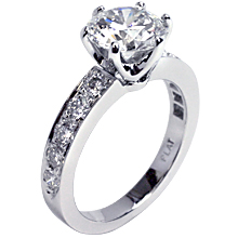 Custom Crowne with side-stones: (/images/Items/245.jpg) ,engagement rings,diamond engagement rings