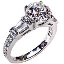 Flooded Engagement Ring: (/images/Items/27.jpg) Wedding ring,Martin Flyer,engagement rings,diamond engagement rings