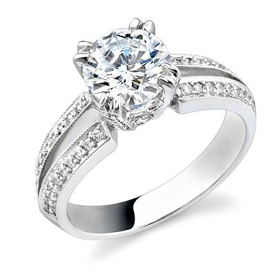 Split-Shank Engagement Ring by Stardust Designs: (/images/Items/302/pic1.jpg) Stardust Diamonds - Engagement Ring,engagement rings,diamond engagement rings
