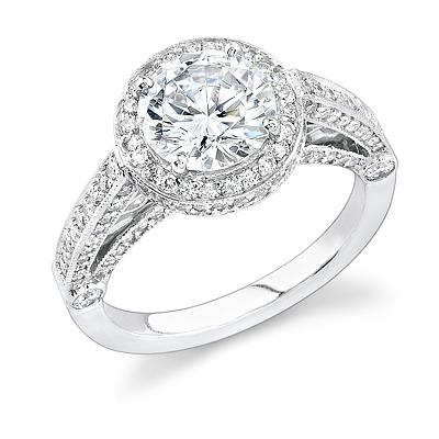 Halo Engagement Ring by Stardust Designs: (/images/Items/312/pic1.jpg) Stardust Diamonds - Engagement Ring,engagement rings,diamond engagement rings